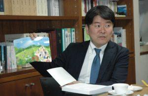 藤井さんがプロのイラストレーターに依頼して最近リニューアルしたという教会案内