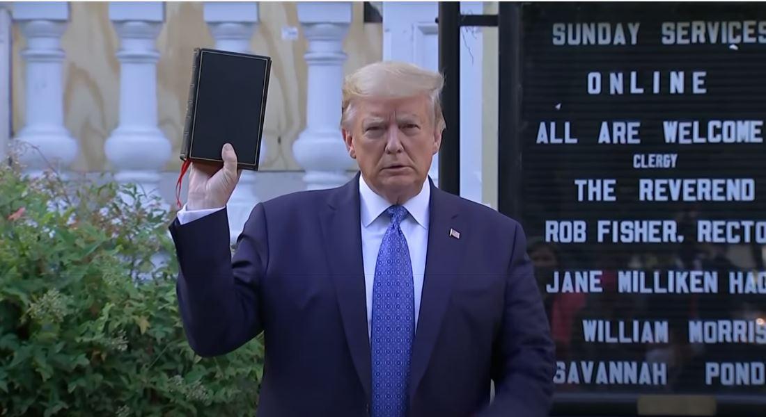 【Kirishin】米トランプ大統領、「聖書」片手に批判集める 2020年6月2日